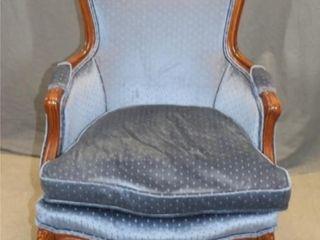 Blue Walnut Arm Chair