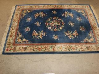 Blue Wool Area Rug