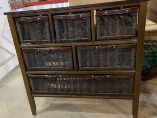 6 Wicker Drawer Cabinet