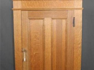 Oak Corner Hanging Cabinet