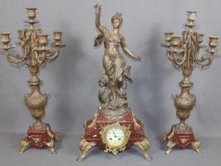 C1890 E Bruchon Signed French Clock la Navagation