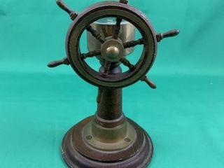 C1930 Nautical Ships Wheel Compass Paper Weight