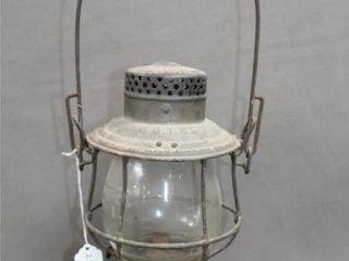 Vintage Grand Trunk Railroad lantern GTR Embossed