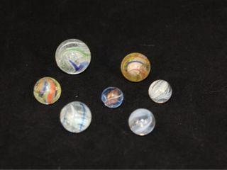 Antique lot  7  German Hand Blown Marbles