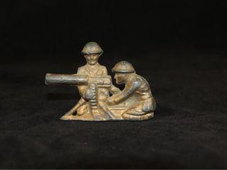 VIntage Manoil Barclay lead Soldiers  MACHINE GUN
