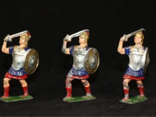 Vintage lot  3  lead J Hill   Co  Roman Soldiers