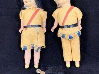 Rare C1920 German Bisque Dolls  Native American