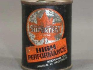 Vintage Supertest 4 oz Oil Can Tin Bank