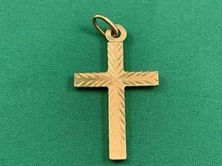 9K Gold Cross