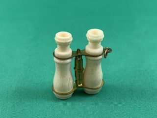 Vintage Ivory Binoculars Pocketwatch Fob