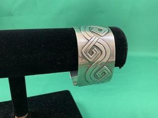 large Heavy Sterling Silver Cuff Bracelet