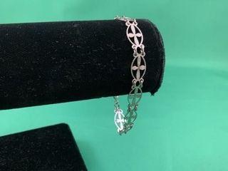 Sterling Silver Bracelet with Celtic Crosses