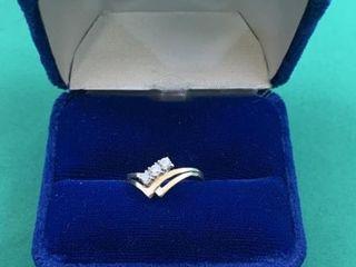 9K Gold Diamond Ring
