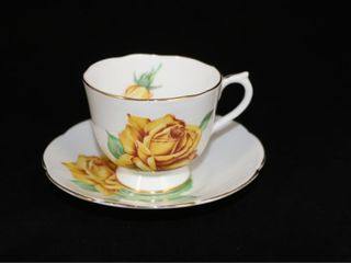 Collingwoods Golden Rose Teacup and Saucer