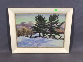 Tree Oil Painting by M Jones