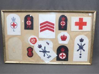 Framed Military Badges