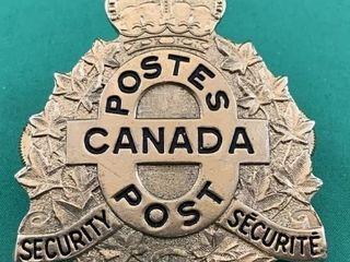 Rare Vintage Canada Post Security Badge