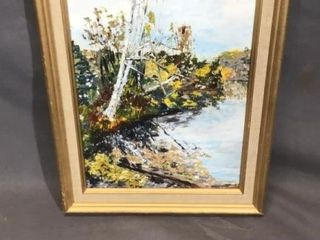 Shoreline Oil Painting