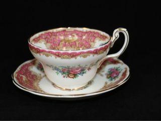 Coalport Montrose Pink Cup and Saucer