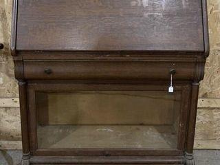 C1900 Rare Combination Oak Drop Front Desk