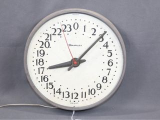 Rare Vintage Base Borden 24 Hour Military Clock