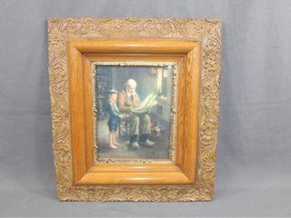 Great C1920 Oak Framed Sailboat Print