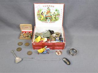 Cigar Box and Antique Contents