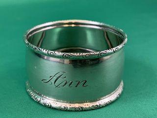 Vintage Birks Sterling Silver Napkin Ring