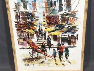 City Scene Oil Painting