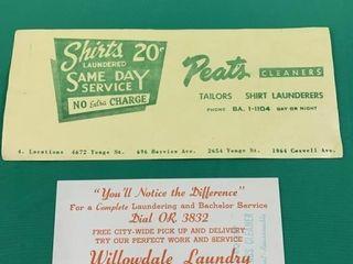 lot   Vintage Toronto laundry Advertising Blotter