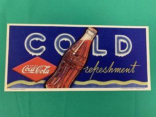 Vintage Coca Cola Advertising Blotter