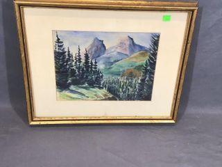 Mountain Watercolour by FC Johnson