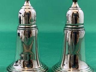 Vintage Sterling Silver Salt and Pepper