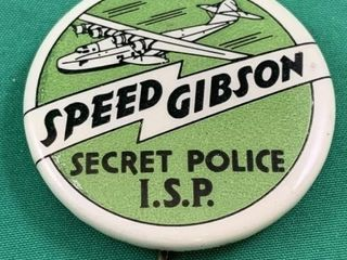 Vintage Original Speed Gibson Secret Police I S P