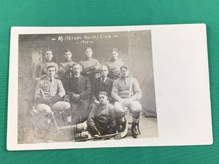 1910 Milbrook Hockey Club Photo Postcard