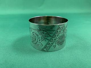 Vintage Sterling Silver Chased Napkin Ring