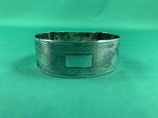Vintage Sterling Silver Napkin Ring w Snake Skin