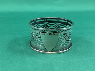 Vintage Sterling Silver Pierced Napkin Ring