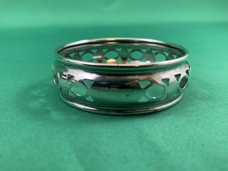 Vintage Sterling Silver Pierced Oval Motif Napkin
