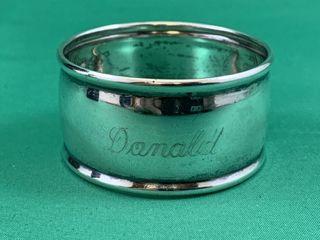 Vintage Sterling Silver Banded Napkin Ring