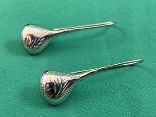 Vintage Sterling Silver Drop Earrings