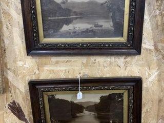 Pair of 1880 Oak Framed Killarney Photos