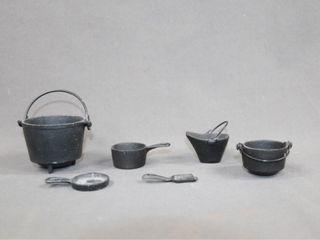 Miniature Cast Iron Cauldron Pots etc