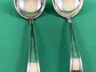 Pair of Vintage Sterling Silver Sauce Spoon