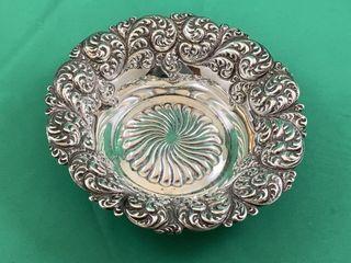 Victorian Sterling Silver Trinket or Bon Bon Dish
