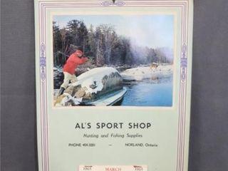 1965 Calendar Al S SPORT SHOP NORlAND