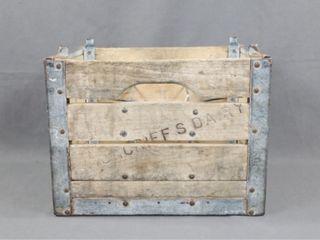 Moncriefs Milk Bottle Wooden Box   Crate