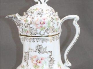C1890 German Porcelain Cocoa Pot