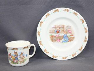 Royal Doulton Bunnykins Mug and Plate