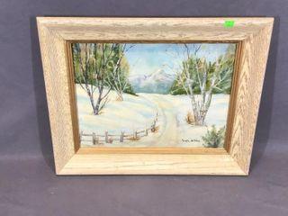 Winter laneway Oil Painting